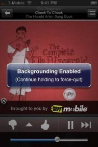 Backgrounder, applications iPhone en tache de fond
