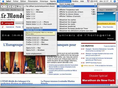 Web Developer Tool Bar pour SAFARI