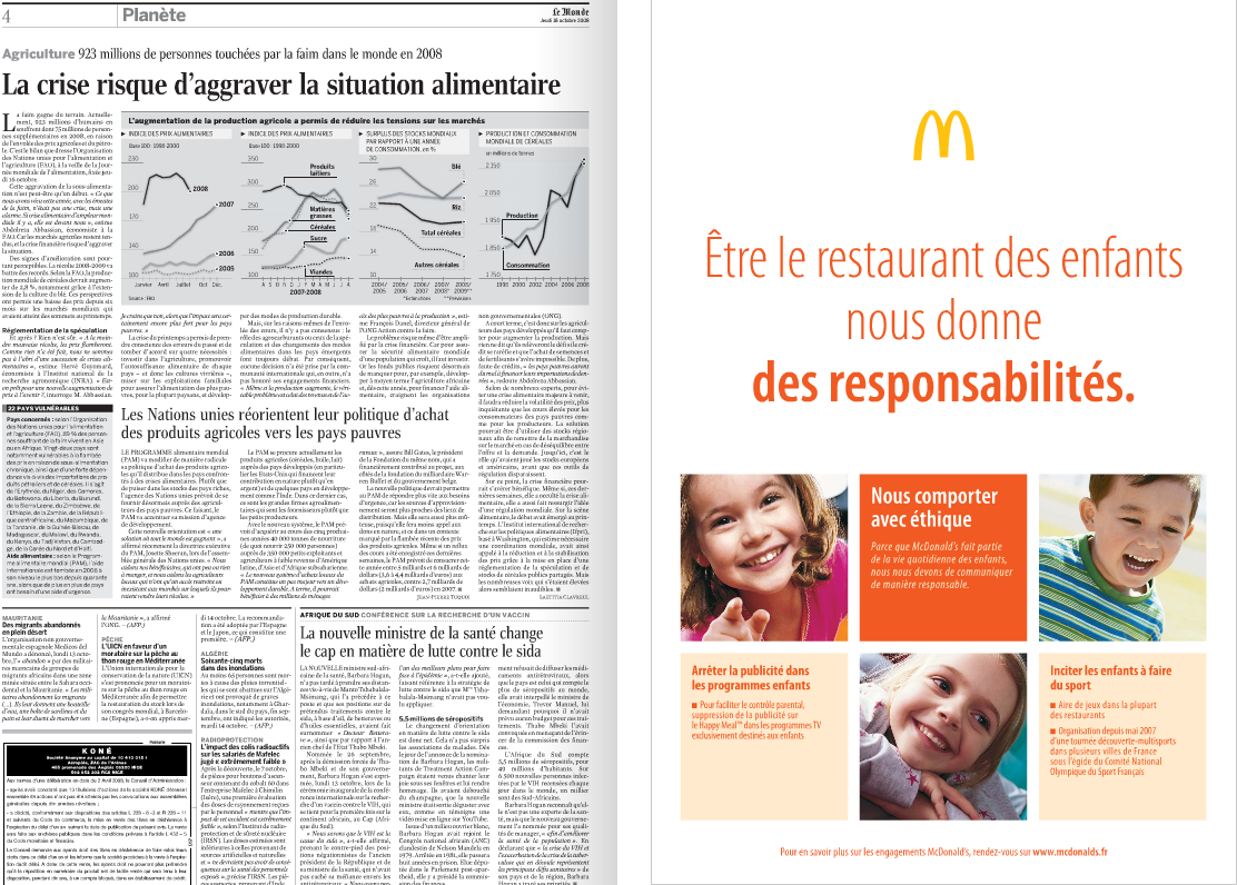 Mac Do et la Crise alimentaire
