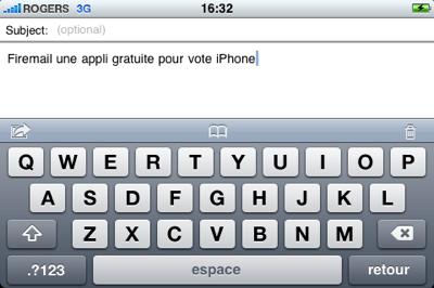 firemail Écrivez vos courriels en mode paysage sur l'iPhone avec Firemail