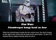 un soldat de star wars qui se prend une porte