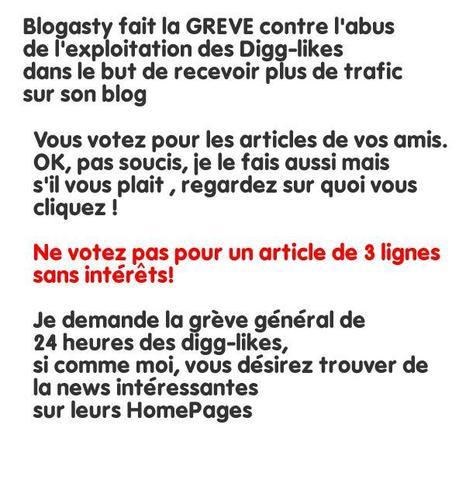 Grève de Blogasty !