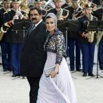 Cheikha Mozah et son mari, émir du Qatar