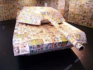 Surprenant : un tank en papier