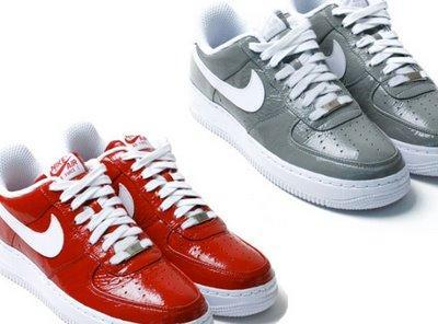 SlamJam x Nike Air Force 1 Red & Grey Colorway