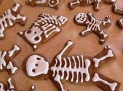 bonhommes squelettes pain d'épices pour l'Halloween!