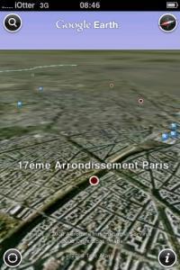 Google Earth iPhone 1