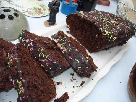Le cake au chocolat, au chocolat et chocolat