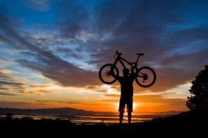 velo coucher soleil