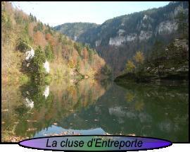 Les gorges du Doubs, du Saut au Barrage du Châtelot