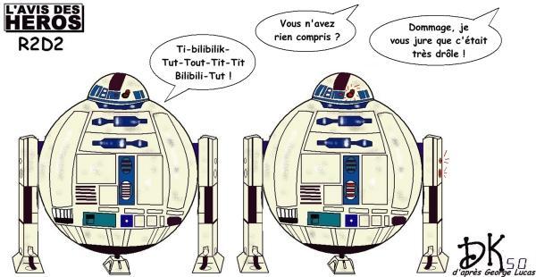 Lavis Des Héros R2d2 Star Wars à Découvrir