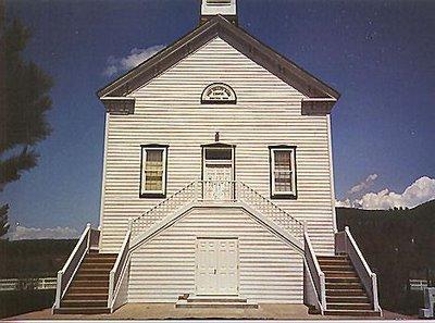 Pine Valley Chapel - Construit par Ebenezer Bryce comme un bateau renversé