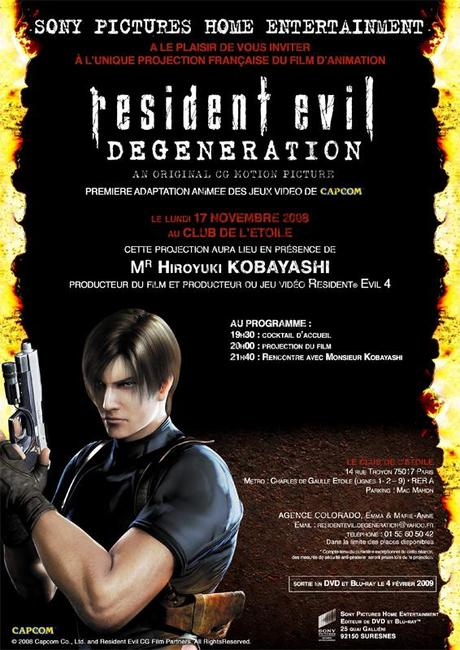 Resident Evil Degeneration - Résumé de la soirée