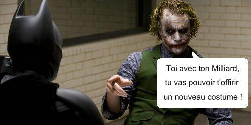 Batman the Dark Knight: 1 milliard de $