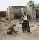 une hyène et son maître