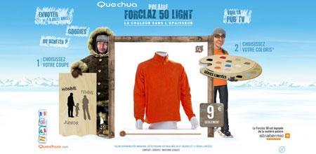 Le site Full Flash pour la polaire Forclaz de Quechua