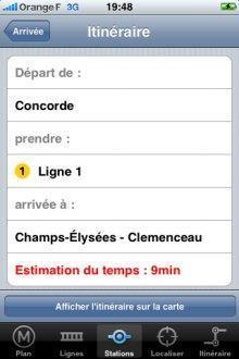 Application Métro Paris pour iPhone - 2