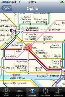 Application Métro Paris pour iPhone - 1
