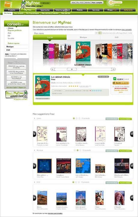 My Fnac, le nouveau service de recommandation et de conseils personnalisés