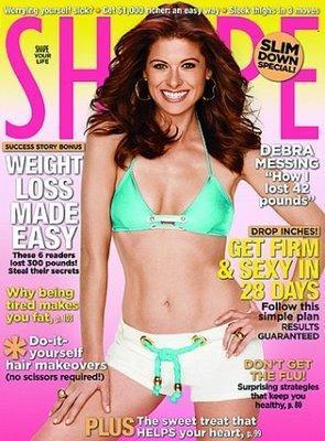 Debra Messing à la Une de Shape Magazine !