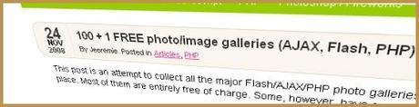Compil' de Galeries d'images