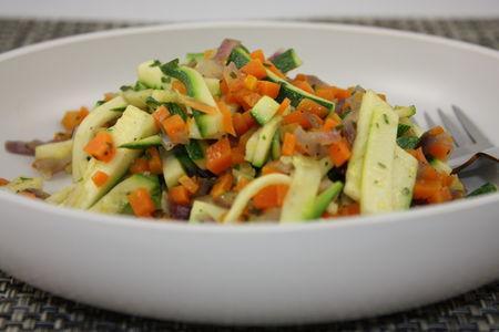 Poêlée de courgettes et carottes | À Découvrir