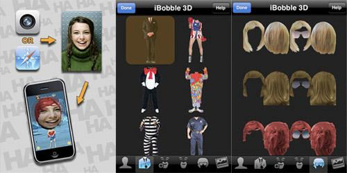 iphone  iPhone Apps   iBobble 3D