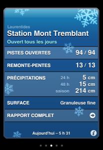 skiqc Les conditions de ski des stations québécoises sur votre iPhone