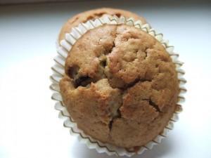Muffins au chocolat et au thé vert!