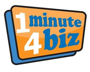 logo 1 minute 4 biz - video d'entreprise