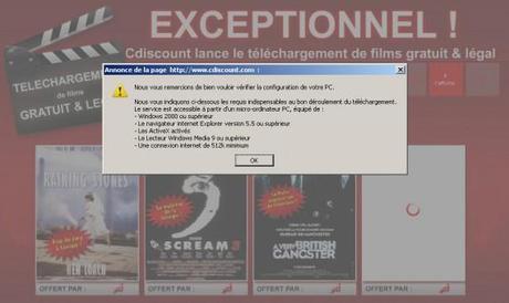 VOD Gratuite sur CDiscount - Test de Scream 3