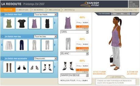 La redoute propose d'essayer les vêtements sur un mannequin