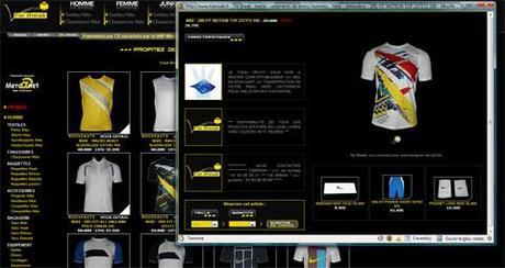 Le site Tie Break ouvre ses fiches produits en pop-up