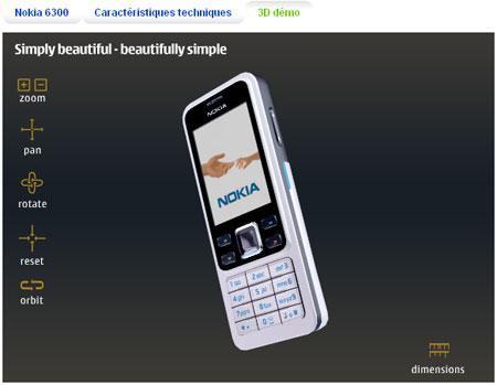 Nokia permet de manipuler ses portables en 3D