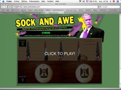 Le jeu du lancé de chaussure sur Georges W Bush est déjà dispo