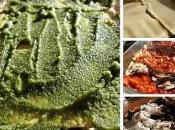 Lasagnes végétariennes aubergines, pesto mozzarella