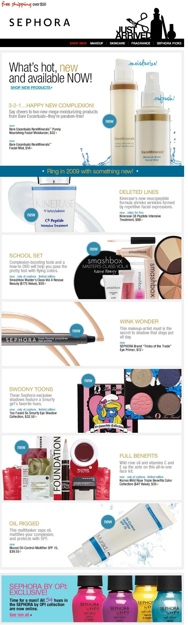 Sephora US - Objet : Brand new year, brand new products