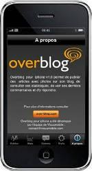 Application Iphone pour Overblog