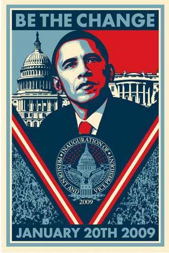 Barack Obama : l'affiche officielle de l'investiture !