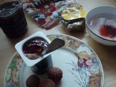 Thé rose d'Abyssinie, petit-déjeuner conté et hibiscus légume