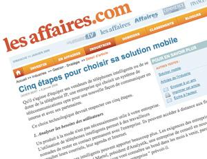 les-affaires-2 Citation dans le journal Les Affaires!