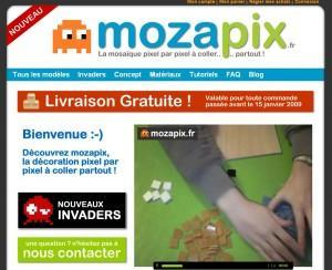 Mozapix - visuels pixelisés