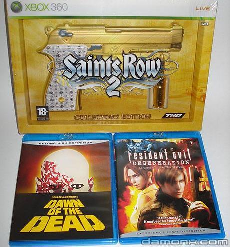 Blu Ray Resident Evil et Saint Row 2