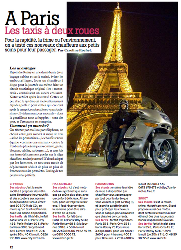 TAXIS DEUX-ROUES, Marie Claire, XII-08