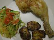 Cuisse poulet four avec julienne légumes pommes terre