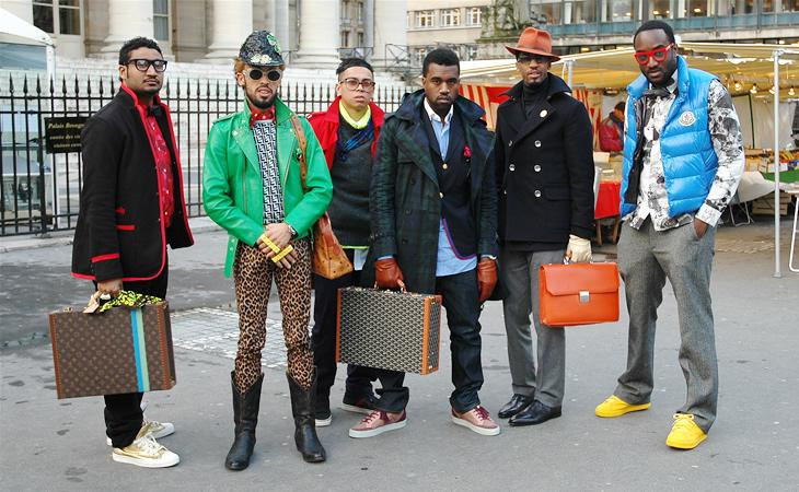 Kanye et ses amis @ Paris Fashion Week