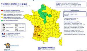 Meteo-France laisse 6 départements en vigilance orange crue