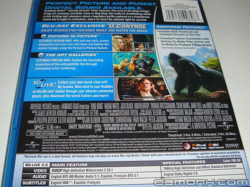 Blu Ray King Kong