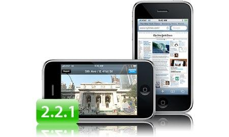 iphone  iPhone Firmware 2.2.1 disponible