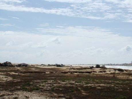 Première vue de Cabo sur les dunes